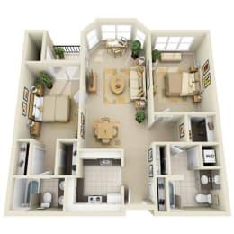 Floor Plan Mid 2BR B