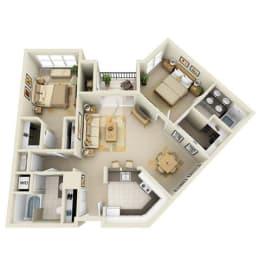 Floor Plan Mid 2BR C