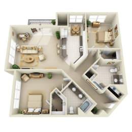 Floor Plan Mid 2BR D