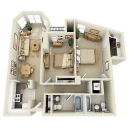 Floor Plan Mid 2BR E