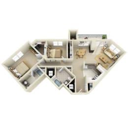 Floor Plan Mid 2BR F