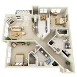 Floor Plan Mid 2BR G