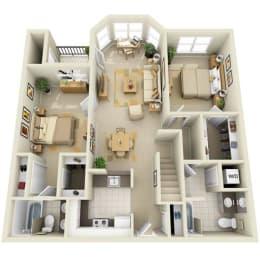 Floor Plan Mid 2BR Loft