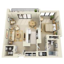 Floor Plan Tower 1BR 1BA