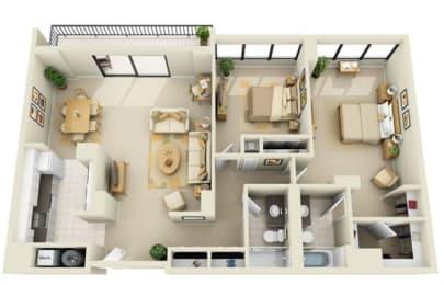 Floor Plan Tower 2BR GH