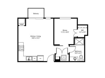 Dock Street Flats Pillsbury floor plan