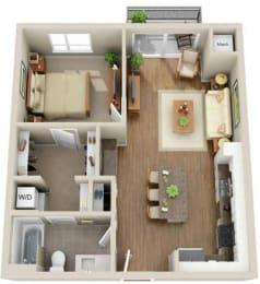 Floor plan at Martin Blu, Eden Prairie, 55344