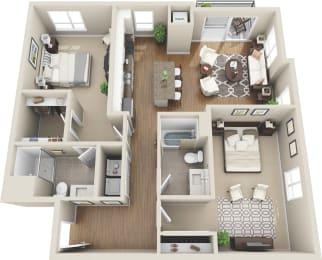 Floor plan at Martin Blu, Eden Prairie, MN