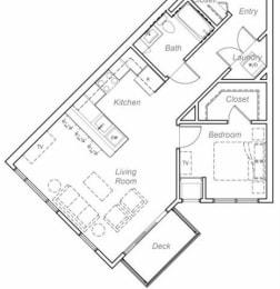 Walker-X Floor plan at Overlook on the Creek, Minnetonka, 55305