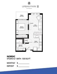 Floor Plan  Studio floor plan drawing, Nordic floor plan