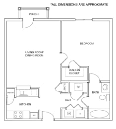 Floor Plan 1A2 Floor Plan