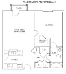 Floor Plan 1A2* Floor Plan