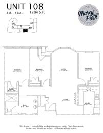 Marcy Park  Apartments floorplan