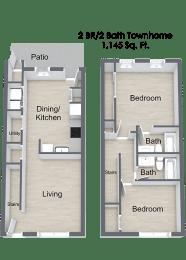 Floor Plan  2 Bedroom Floor Plan