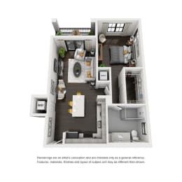 Addison Place A3 Floor Plan