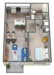 1 Bed 1 Bath Floor Plan at Mosaic at Oak Creek, Bonita Springs, FL