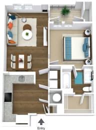 Floor Plan Flats A1