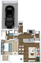 Floor Plan Manor- A3-L Attached Garage