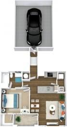 Floor Plan Manor- A4-U Attached Garage