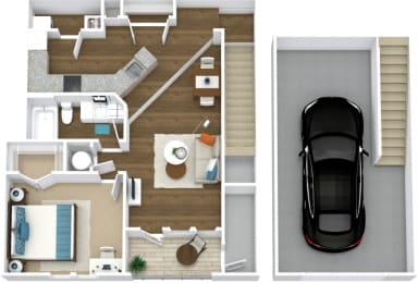 Floor Plan Manor- A5-U Attached Garage