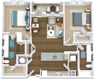 Floor Plan Flats B2