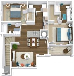 Floor Plan Manor- B3-U