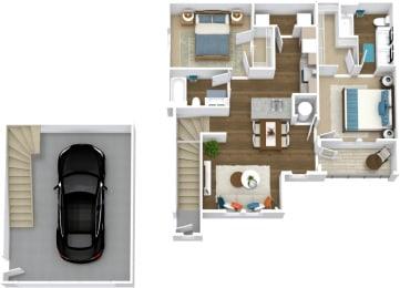 Floor Plan Manor- B4-U Attached Garage