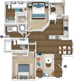 Floor Plan Manor- B5-L