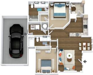 Floor Plan Manor- B6-L Attached Garage