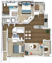 Floor Plan Manor- B8-U