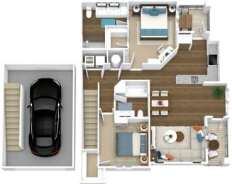 Floor Plan Manor- B9-U Attached Garage
