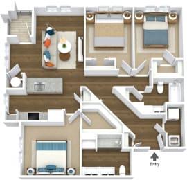 Floor Plan Flats C2