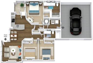 Floor Plan Manor- C1-L Attached Garage