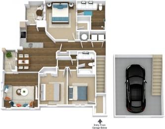 Floor Plan Manor- C3-U Attached Garage