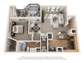 Floor Plan Bluebonnet, A1
