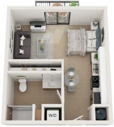 0 Bed 1 Bath Floor Plan at Twenty2 West, Florida