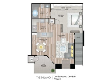 The-Milano Floor Plan at Ascent at The Galleria, California, 95678