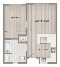 Unfurnished One Bedroom A