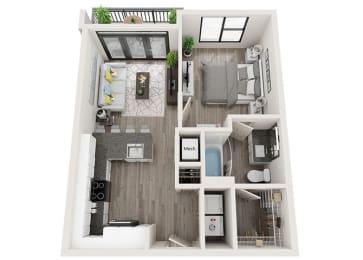 A1 Floor Plan at Link Apartments® Innovation Quarter, Winston Salem, 27101