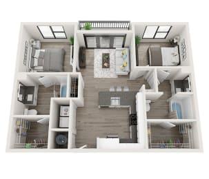 B2 Floor Plan at Link Apartments® Montford, Charlotte, NC