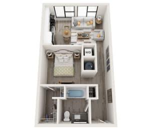 S1 Floor Plan at Link Apartments® Montford, Charlotte, NC, 28209