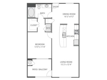 A2 Floor Plan at Victoria Arbors Apartment Homes
