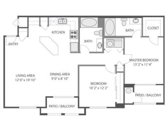 B1 Floor Plan at Victoria Arbors Apartment Homes