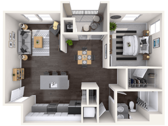 A2 Floor Plan layout at Mitchell Place Apartments, Murrieta
