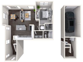 A4 alt Floor plan at Mitchell Place Apartments, California