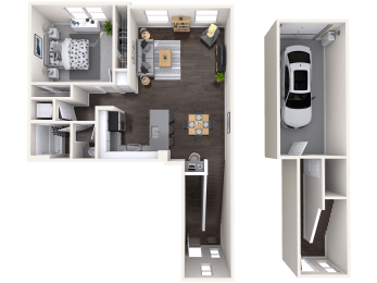 A4 Floor plan image at Mitchell Place Apartments, CA