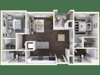 B1 Floor Plan at Mitchell Place Apartments, Murrieta, 92562