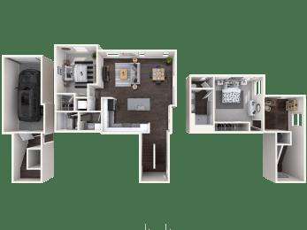 B3 Floor Plan at Mitchell Place Apartments, Murrieta, CA, 92562