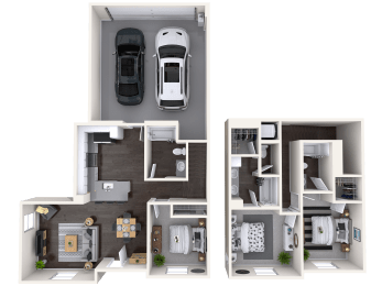 C1 Floor Plan at Mitchell Place Apartments, Murrieta