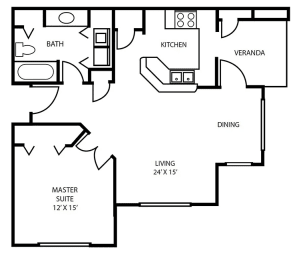 Floor Plan 3 at Pallas Townhomes & Apartments